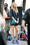 Блейк Лайвли, фото 1890.  Blake Lively On the set of 'Gossip Girl' in...