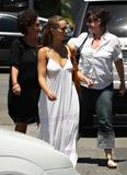 Jennifer Love Hewitt shows some pokies and cleavage in low-cut white dress out & about in Los Angeles